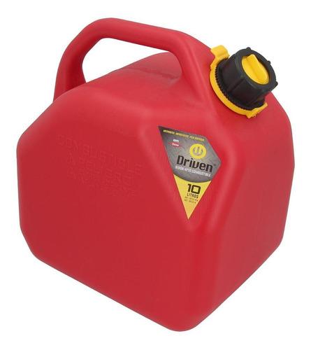 Imagen 1 de 2 de Bidon De Combustible Profesional Rojo De 10 Litros