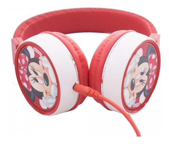 Fone De Ouvido Supra Auricular Cabo 1,20mt Da Minnie Disney