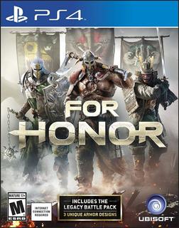 For Honor Ps4 Juego Nuevo Original Físico Blu-ray Sellado
