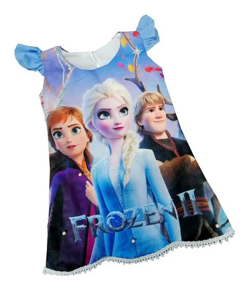 Vestido Mangas Frozen - Ig