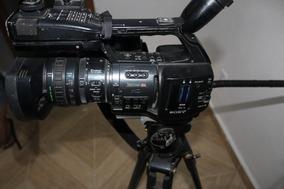 Filmadora Sony Xdcam Ex3 + Tripé Mattedi + Cartão De Memoria