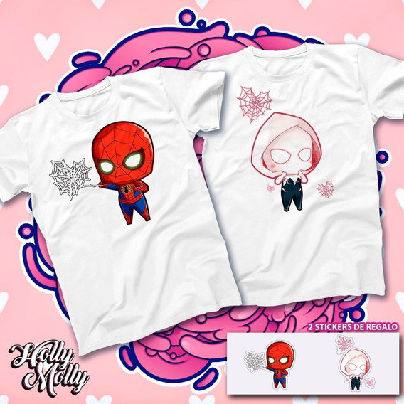 2 Playeras De Pareja Spiderman