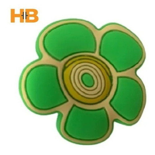 Imagen 1 de 4 de Tirador Infantil Silicona Flor Verde.