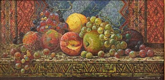 Pintura De Carlos Pfeiffer 57 X 29 Cm. Óleo Sobre Hardboard