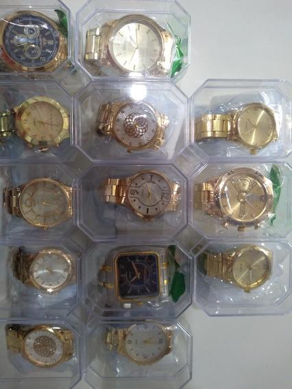 Relógios Kit C/10 Luxo, Preço Bom, Revenda Muito Barato!