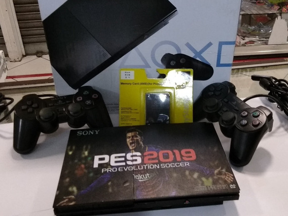 Playstation 2 + 2 Controles + Memory Card+10 Jogos