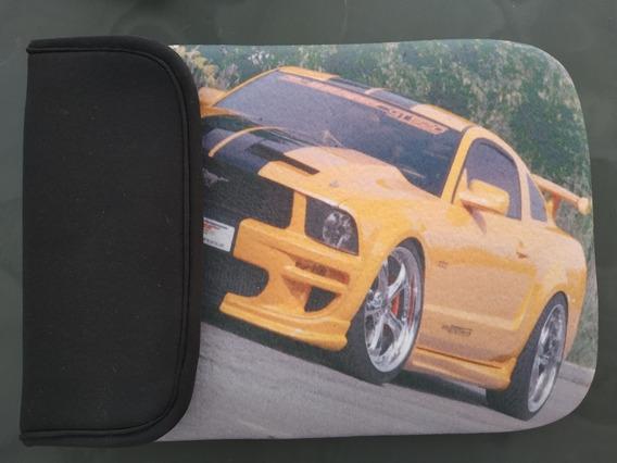 Capa De Tablet 10 Neoprene Mustang Amarelo Brinde Brinco
