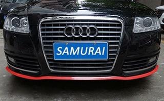 Zlip Lip Para Parachoques Samurai 35mm Carbono Rojo Jdm