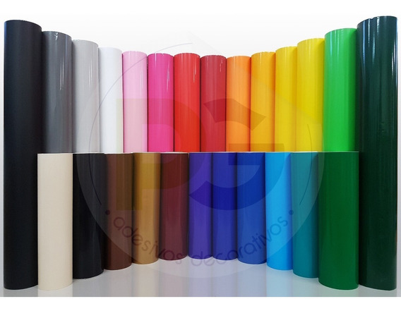 Adesivo Colorido Vinílico Envelopamento Móveis E Geladeira