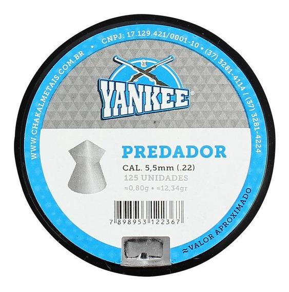 Chumbinho Munição Carabina Pressão Yankee Predador 5.5 125un