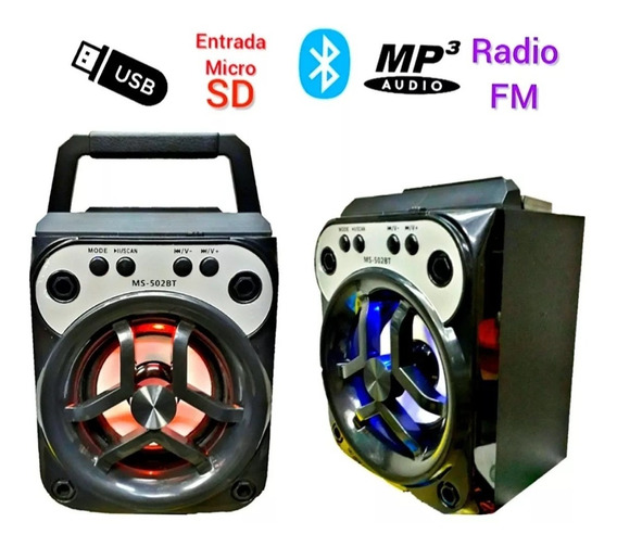 Corneta Recargable Bluetooth, Usb Fm