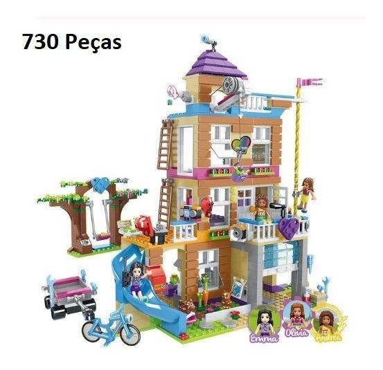 Bloco De Montar Casa Da Amizade 730 Pçs Compátivel Lego41340