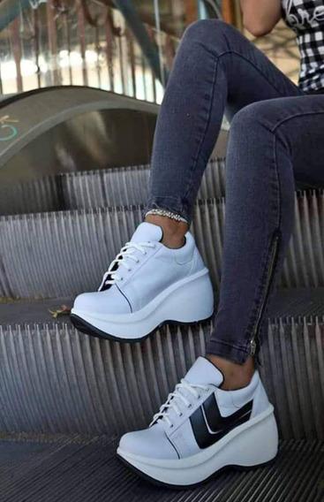Zapatillas Plataforma Ondulada Modelo Perfect Mujer Talle 38
