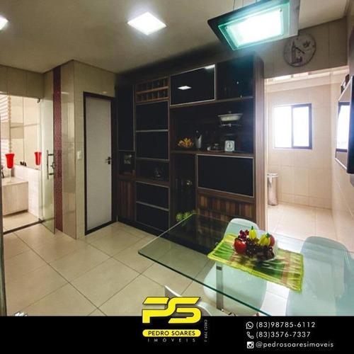 (oportunidade)  Apartamento Com 4 Dormitórios À Venda, 230 M² Por R$ 1.200.000 - Jardim Tavares - Campina Grande/pb - Ap4422