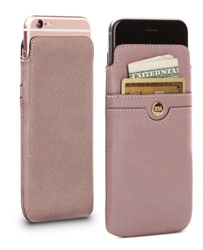 Estuche Cuero Legítimo iPhone 6 Y 6s Ellie Rosa Dimm