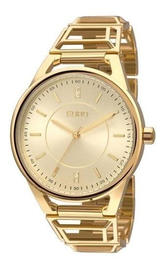 Relógio Feminino Euro Analógico Dourado Eu2035yeq/4d Oferta