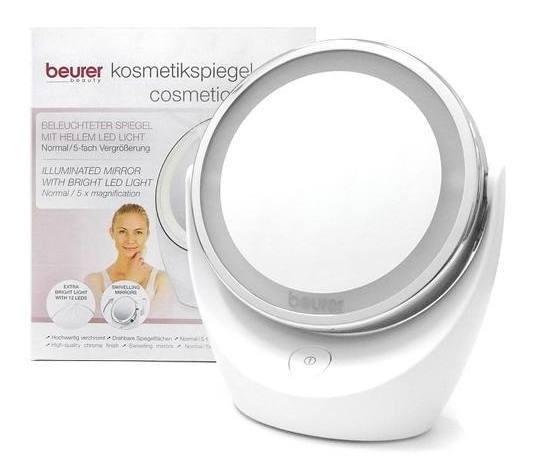 Beurer Bs49 Espejo De Maquillaje Profesional 1x Y 5x Luz Led