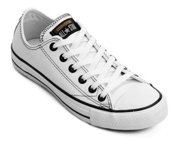 Tênis Converse All Star European Leather Branco Ox Original