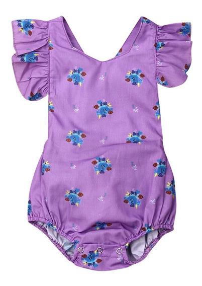 Lindo Recién Nacido Bebé Niña Floral Ruffle Romper Mono R
