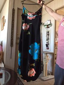 Vestido Solera Negra Estampado Talla M