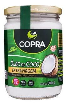 Imagem 1 de 2 de Óleo De Coco Extra Virgem Vidro 500 Ml Copra