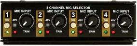 Seletor De Microfone - Radial Gold Digger - 4-channel