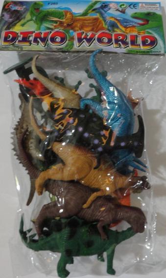 Kit 15 Peças Dinossauros De Borracha Miniatura - Lindos!