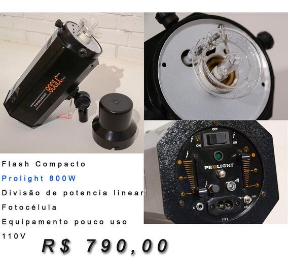 Flash Compacto 800w Prolight - Pouco Uso