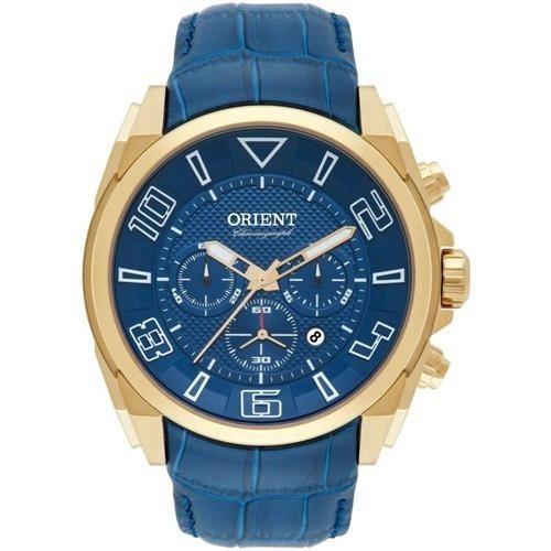 Relógio Masculino Orient Mgscc004 D2dx Cronógrafo Azul/doura