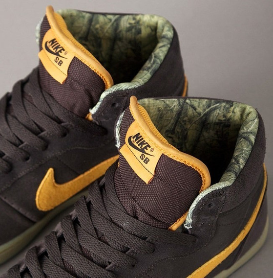 Tênis Nike Zoom Classic High Sb Tar Golden Marrom Cano Longo