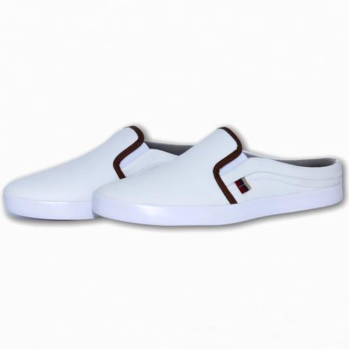 Sapatenis Iate Mule Slip-on Masculino Branco Sound Shoes