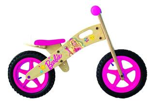 Bicicleta Barbie Wodden De Madera Sin Pedales