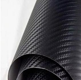 Envelopamento Fibra Carbono 3d Moldavel Carro Moto 34x50cm