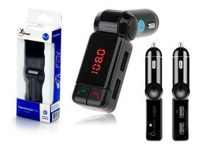 Transmissor Veicular Bluetooth Fm Mp3 Usb 2.1a Original Knup