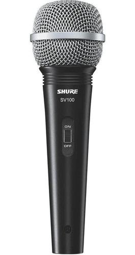 Imagem 1 de 6 de Microfone Com Fio Profissional Shure Sv100 (original)