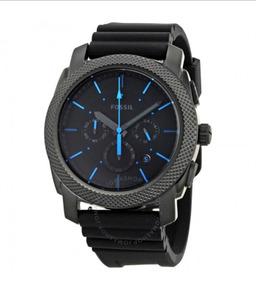 Relógio Fóssil Machine Black Dial Chronograph Black