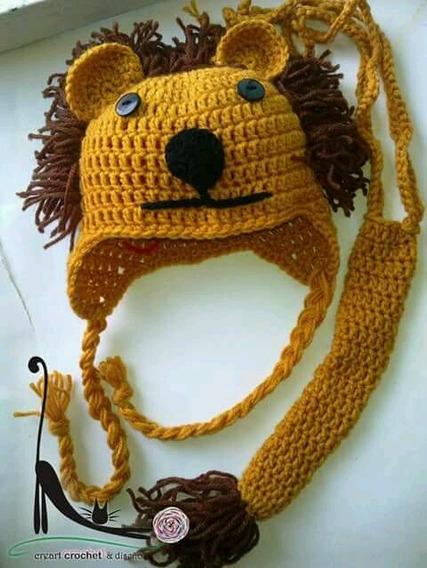 Conjunto Leão Crochê Newborn