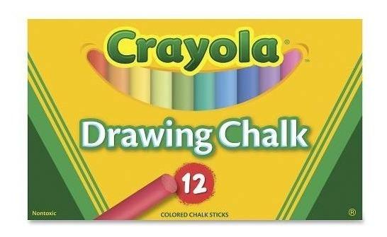 Set De 12 Tizas De Colores Crayola