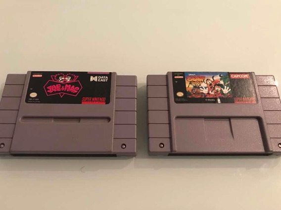 Lote - Joe Mac E Goof Troop - Super Nintendo Originais