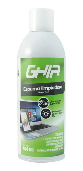 Espuma Limpiadora Equipos Cómputo 454ml Gls-004 Ghia