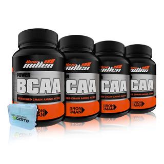 4x Bcaa Advanced 60 Caps + Porta Caps - New Millen