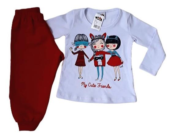 Kit 5 Conjunto Moleton Infantil Feminino Inverno Menina