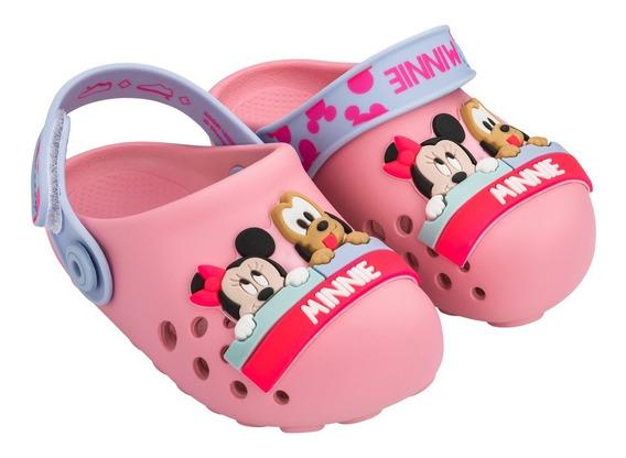 Sandália Babuche Infantil Menina Disney Minnie Mickey 22078