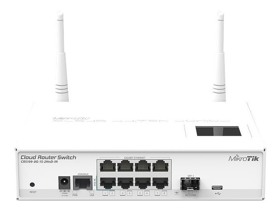 Mikrotik Crs109-8g-1s-2hnd-in Switch 8 Giga 1 Sfp Wifi 2 Ant