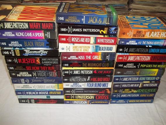 Lote 35 Livros James Patterson Em Inglês Romances Pocket