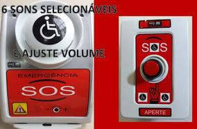 Alarme Ajuste Vol/6 Sons/ Sanitário Pne Portadores -sem Fio