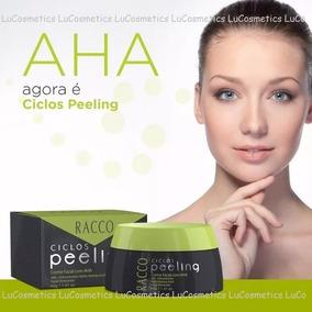 Kit C/2 Cremes Clareador Facial Com Aha Ciclos Peeling Racco