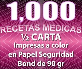 1000 Recetas Médicas A Color En Papel Seguridad