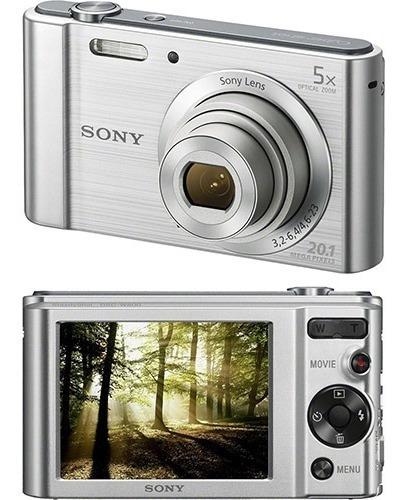 Câmera Sony Cyber-shot Dsc-w800 20.1mp 5x Zoom 720p Prata