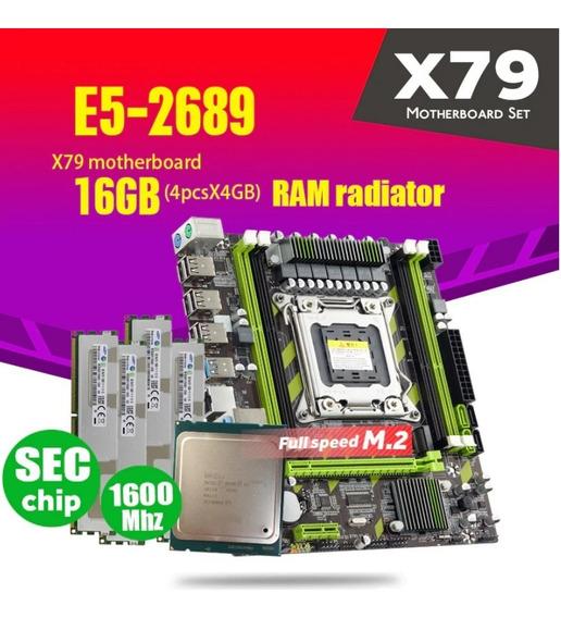 Kit Xeon E5 2689 + Placa Mãe X79 + 16gb Ddr3 1600mhz
